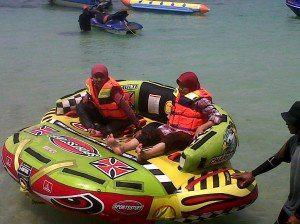 sofaboat-watersport-wisata-paket-pulau-tidung